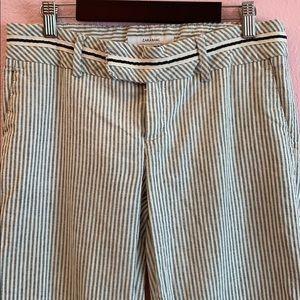 Zara Basic Women's Striped Linen and Cotton Pants